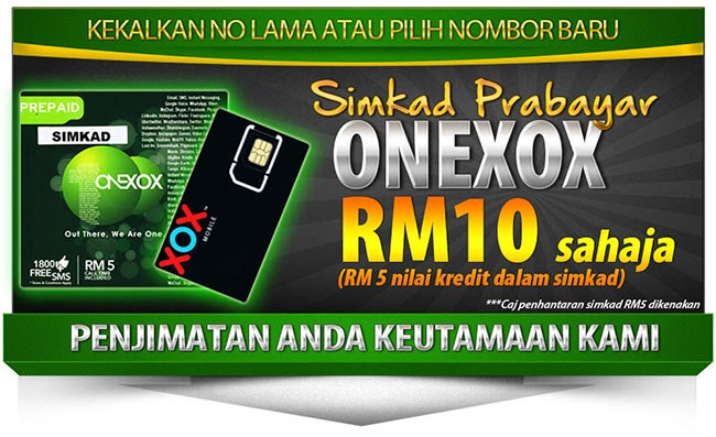 ONEXOX Prepaid Simkad Jimat