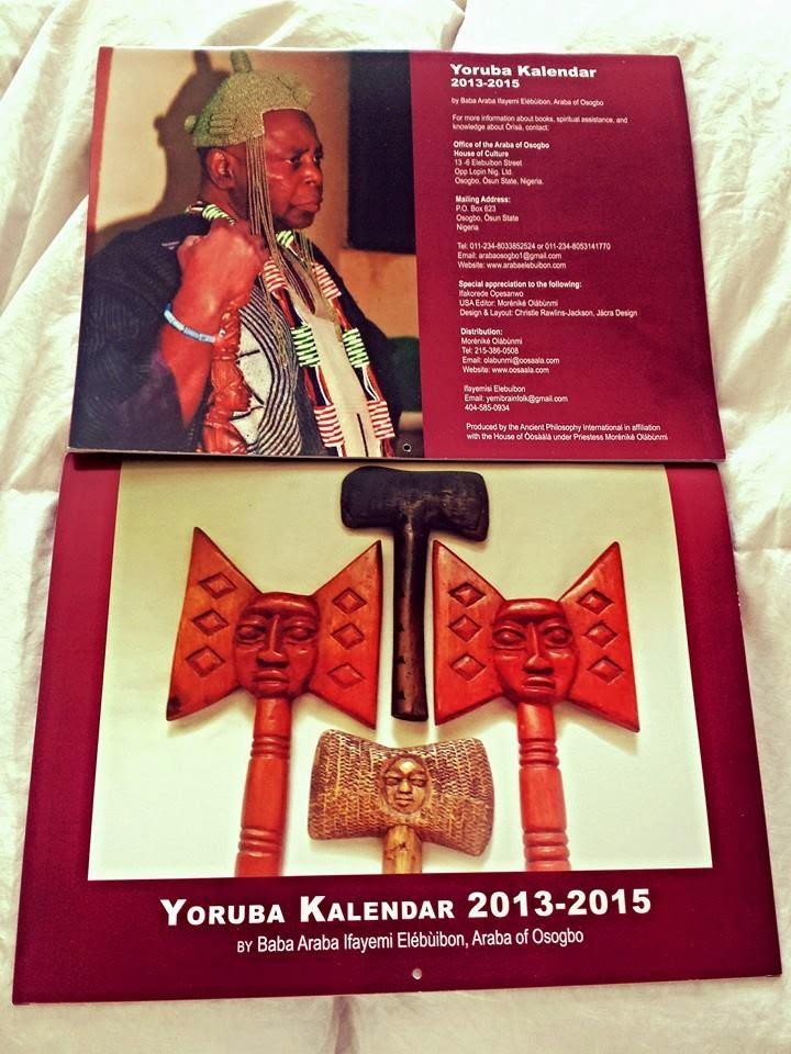 Yoruba kanlendar 2013-2015