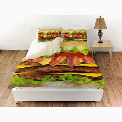 Bacon Cheeseburger Deluxe Bedding set