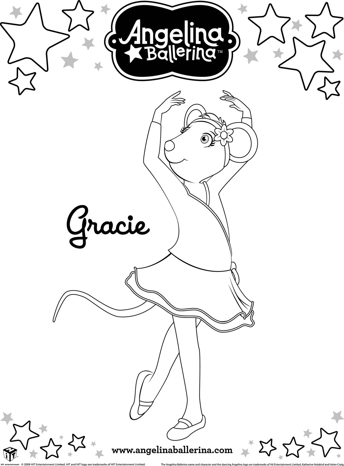 Angelina Ballerina - Desenhos para Colorir | Desenhos e Riscos ...