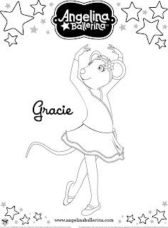 Angelina Ballerina - Desenhos para Colorir