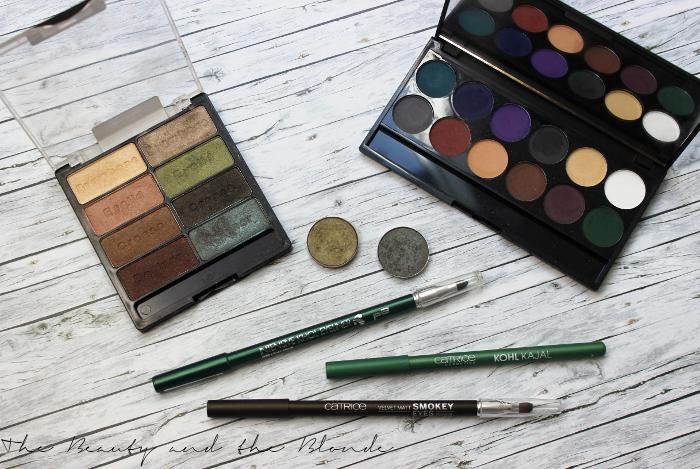 7 Shades Of Green Produkte, Lidschatten, MAC, Wet N Wild, Sleek, Kajal