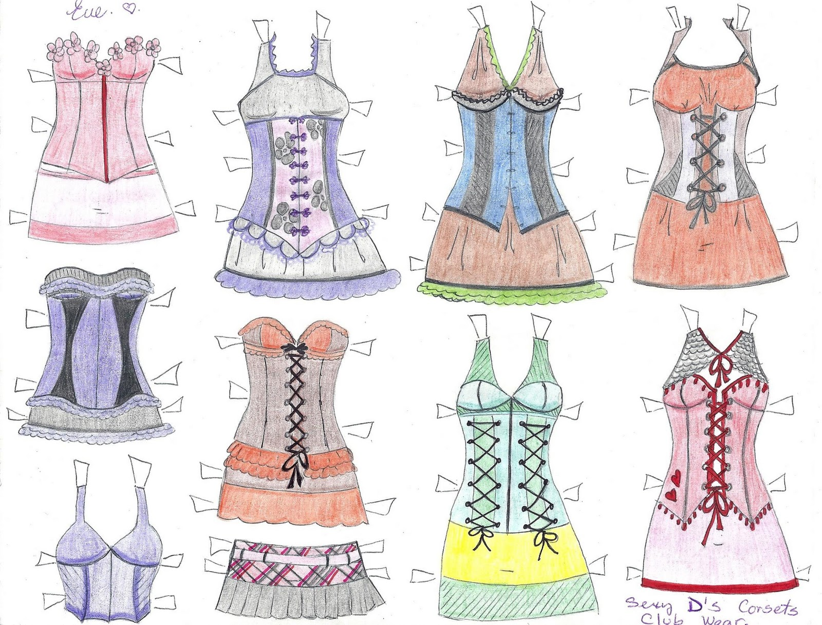 PAPER DOLL EVE~: D The Paper Doll, Corsets, Club Wear. Corsets Para ...
