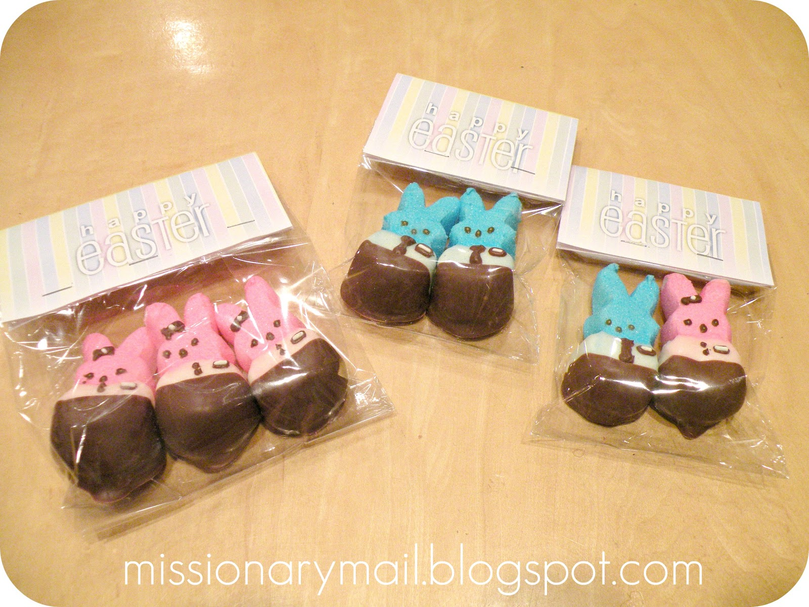 Missionary mail easter fun to see where i got the idea and recipe click here missionary peeps negle Images