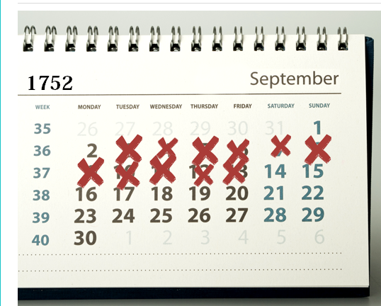 Awesome Historical Fact :CALENDAR   SEP 1752   11 DAYS MISSING!!!   Best