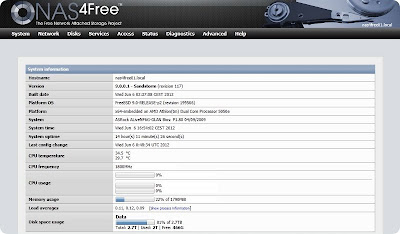 WebGUI NAS4Free