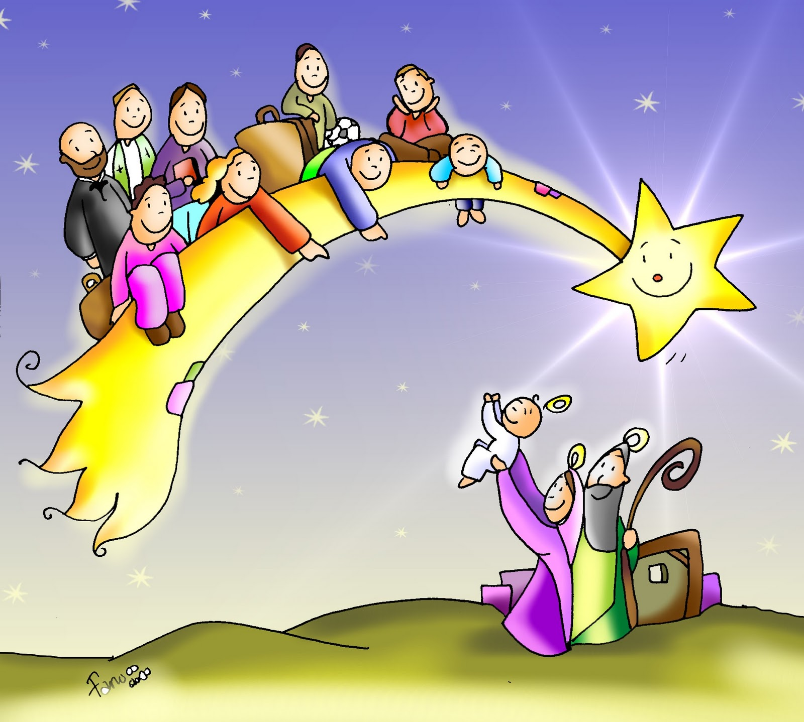 El blog de marcelo navidad y epifania seg n fano im genes - Dibujos navidad en color ...