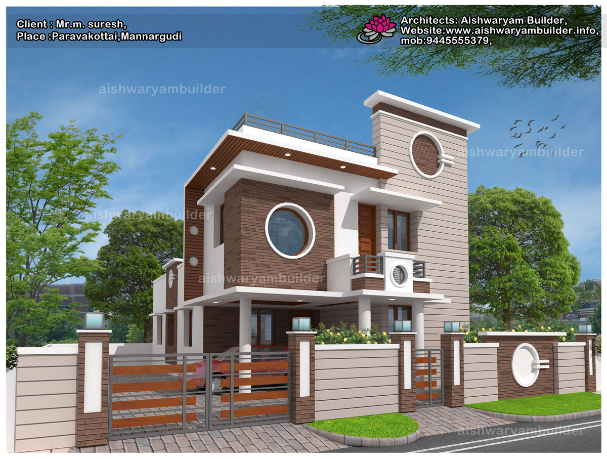 Contractors in chennai contemporary house designs for Modern house design