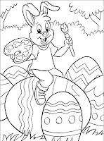 pagini cu oua de colorat