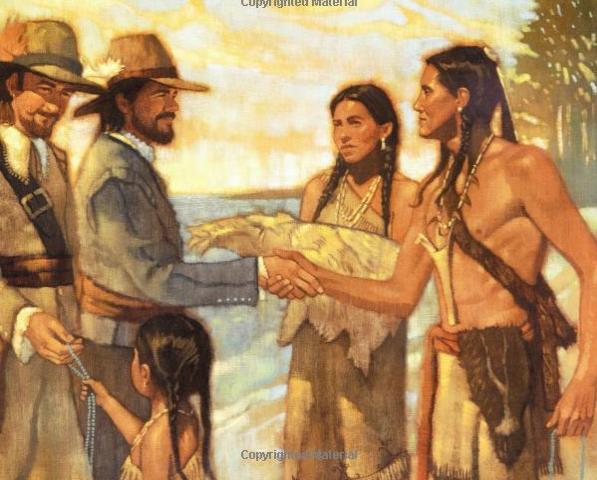 Thanksgiving pilgrim wallpaper the first thanksgiving - Thanksgiving Native Americans And Pilgrims Wesharepics