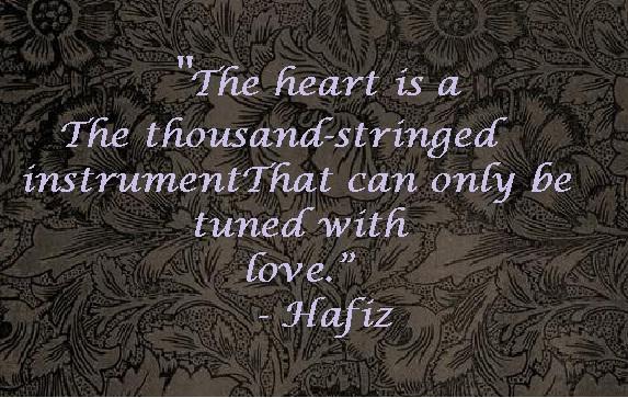 De geluksonderneming op stil avontuur for Hafiz gedichten