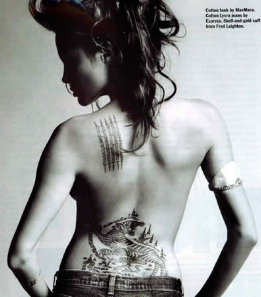 angelina jolie wallpaper bikini. angelina jolie tattoos