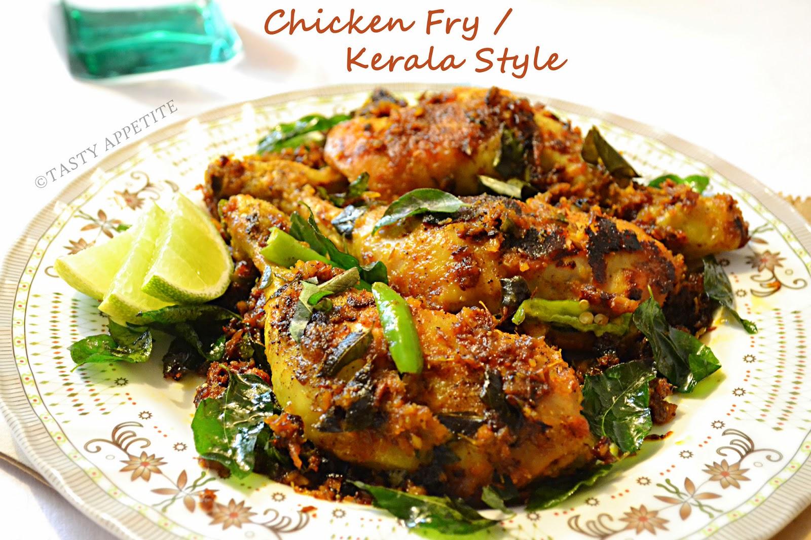 Kerala Style Chicken Roast / Spicy Pepper Chicken Fry ...