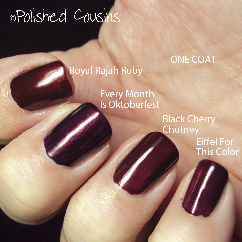 Polished Cousins: OPI Ruby Comparisons