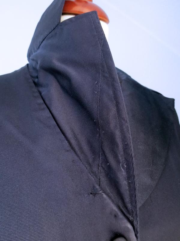 Vintageklänning sidenrips krage