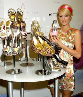 paris hilton collects shoes
