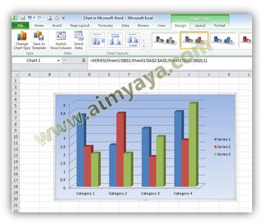 Gambar: Contoh Chart/grafik dengan gradiasi warna