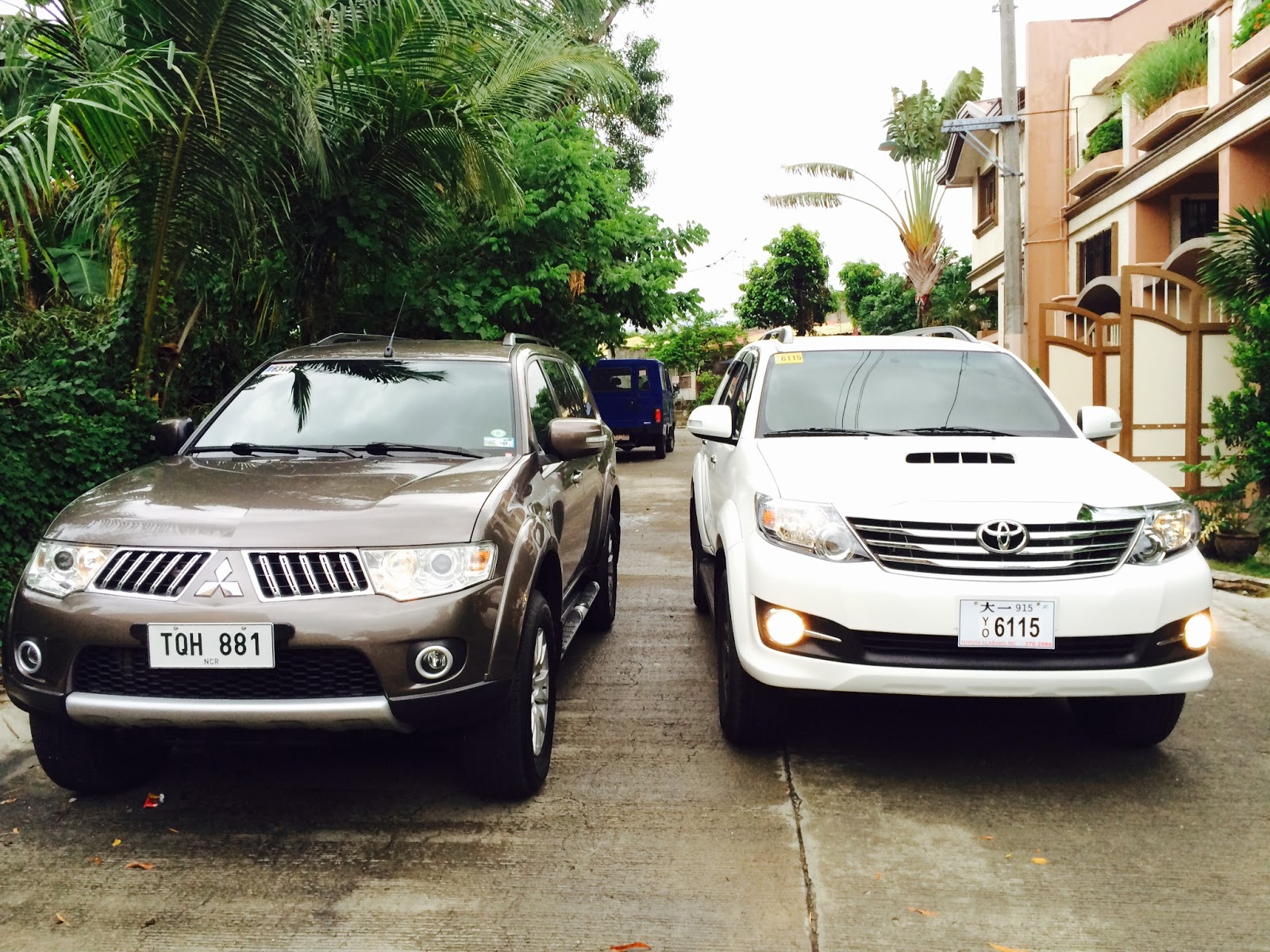 The real life comparison of the toyota fortuner and mitsubishi montero sport