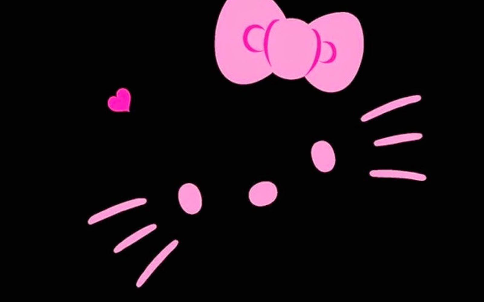 Pink Hello Kitty Wallpaper Hello Kitty Wallpaper In Black Background