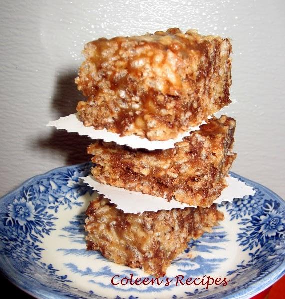 Coleen's Recipes: PEANUT BUTTER KRISPIE TREATS