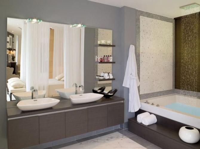 Modern Homes Modern Bathrooms Setting Ideas