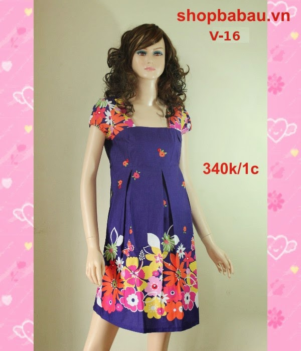 Váy bầu đẹp cho mùa hè V-16