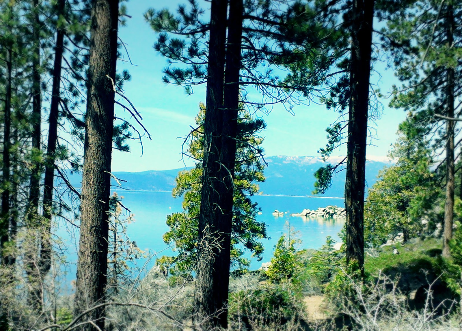 Chimney Beach Lake Tahoe by Beth Hemmila