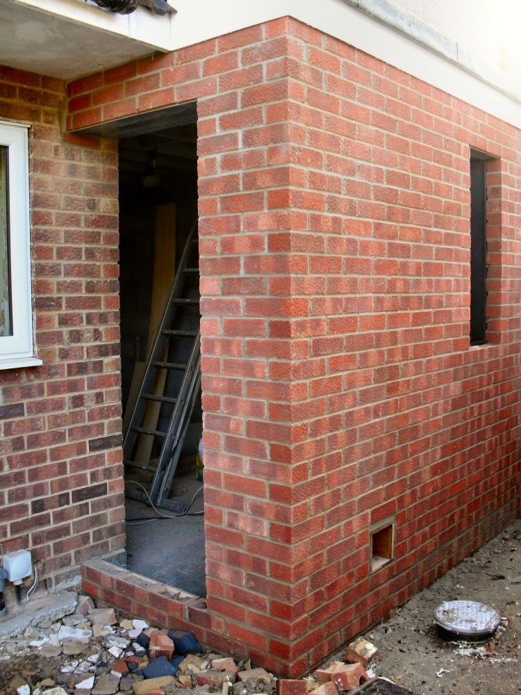 When The New Back Doorway Goes In It Is Time To Brick Up The Old Doorway And Replace It With A Window. (Cue Dust) & Brick Dust Doorway \u0026 36\\\