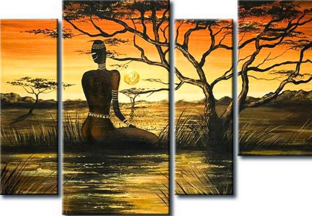 pinturas-decorativas-de-paisajes-africanos-modernos