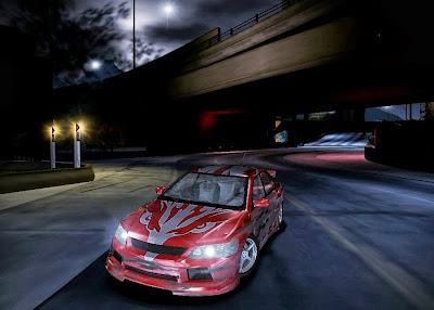 front view screenshot of nfs carbon player's car