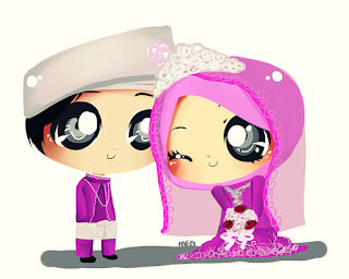 Kartun / Doodle / Chibi for wedding... Super CUTE!!!