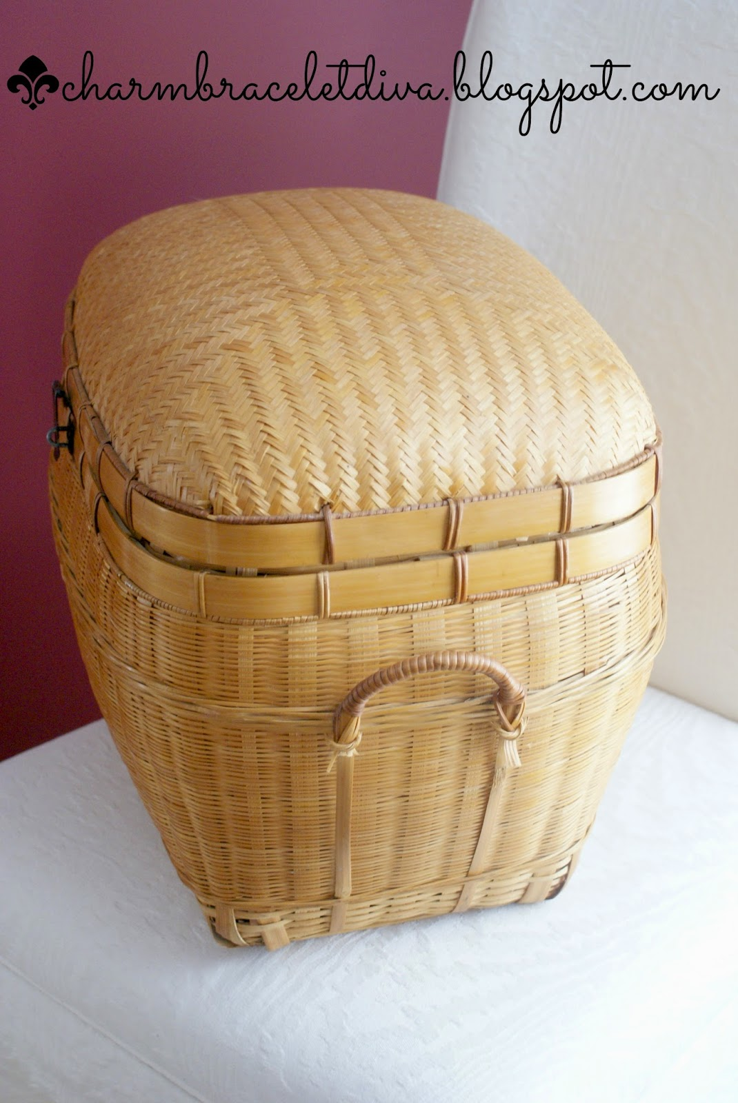 thrifted lidded basket