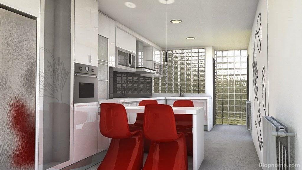 Eficiencia asequible introduccion al bloque vidrio - Cocinas con bloques de vidrio ...