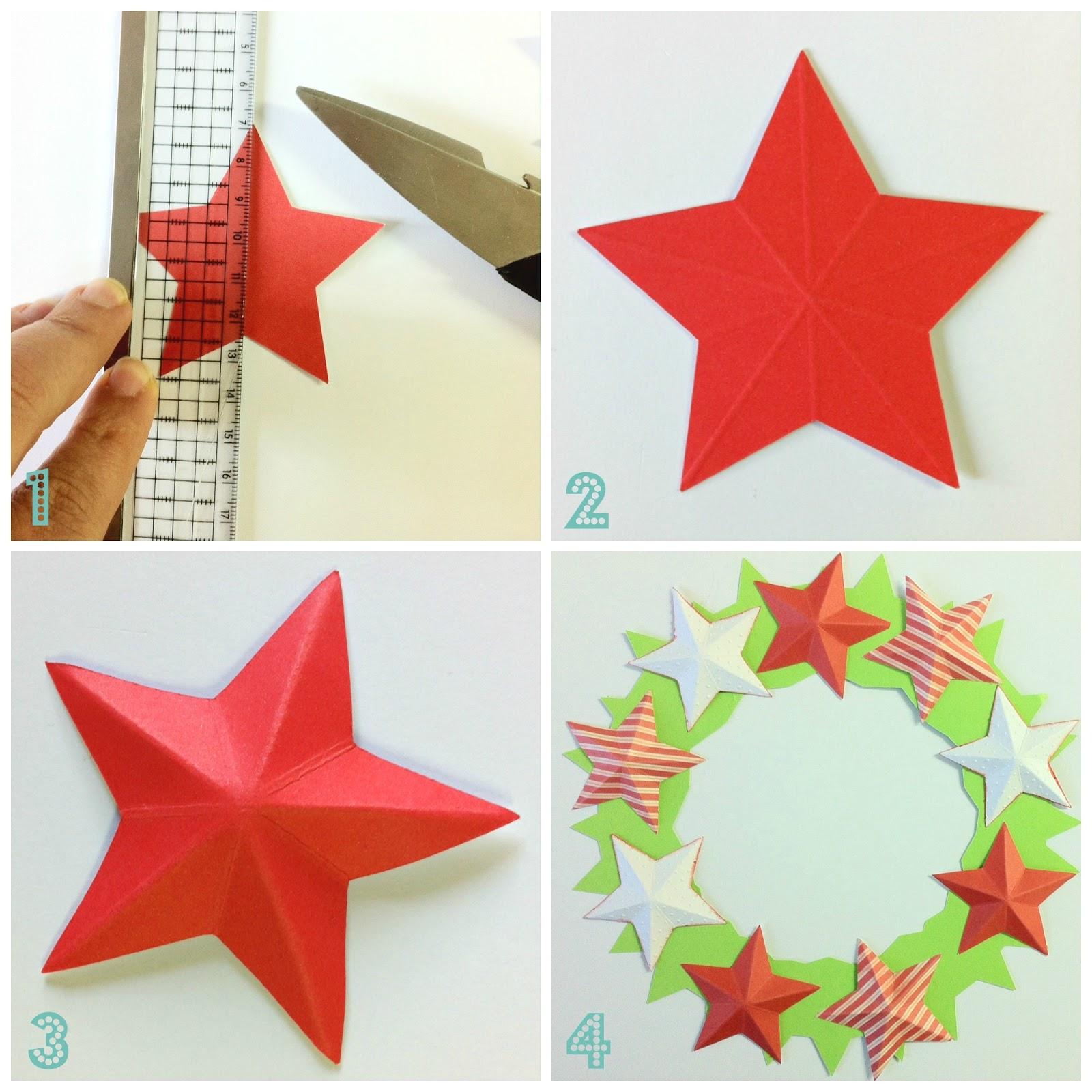 Made in bottega blog creativo diy realizziamo una for Stelle di carta tridimensionali