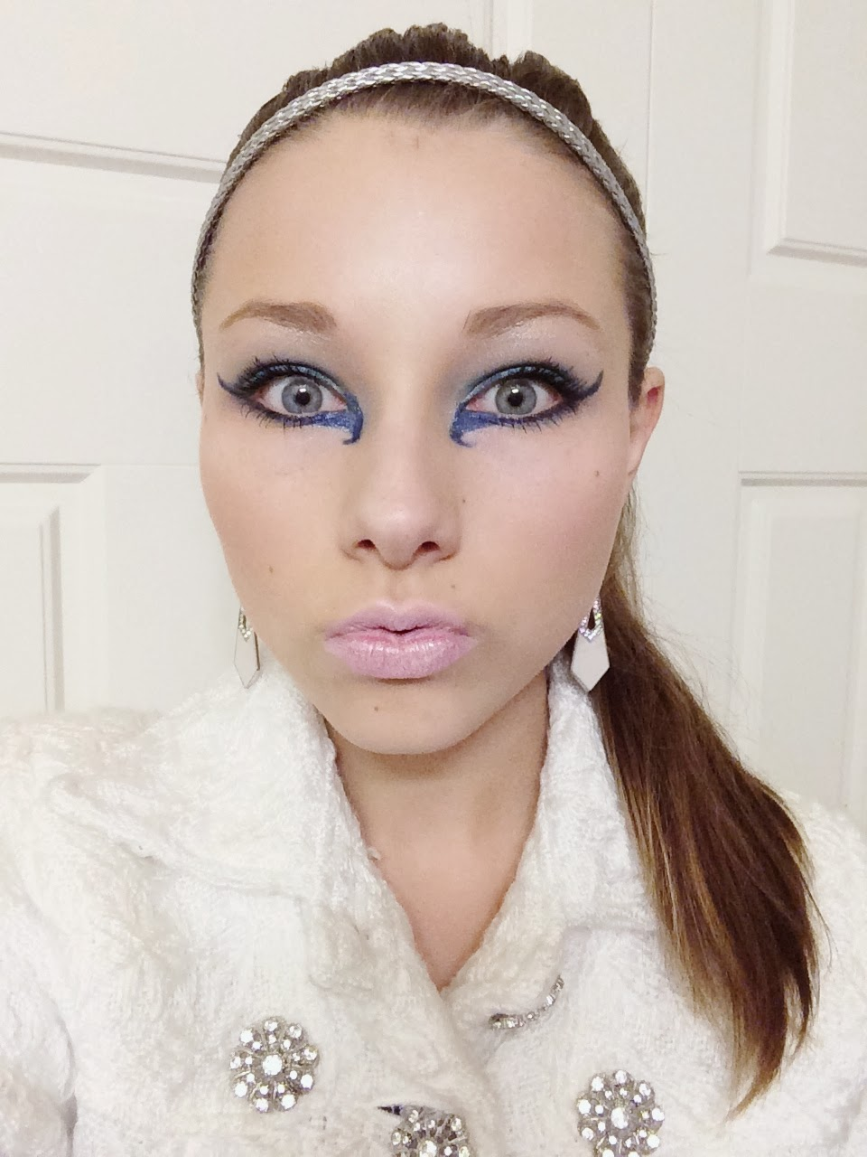 Icy eyes and frostbitten lips Ice Princess Halloween Makeup