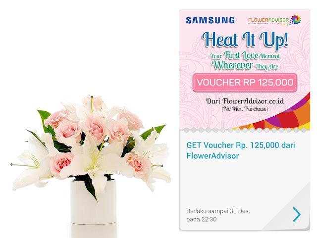 Voucher diskon Rp. 125.000 di Flower Advisor Indonesia