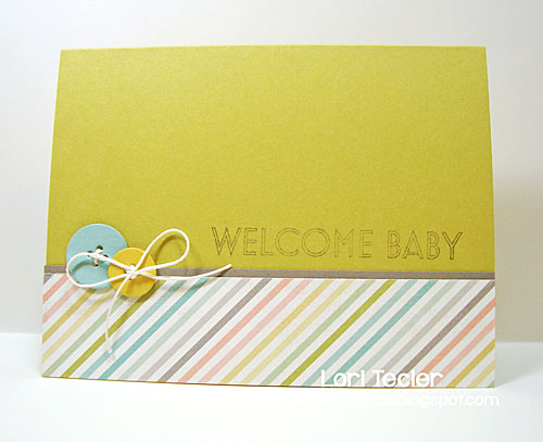 Welcome Baby card-designed by Lori Tecler/Inking Aloud-stamps and dies from Clear and Simple Stamps