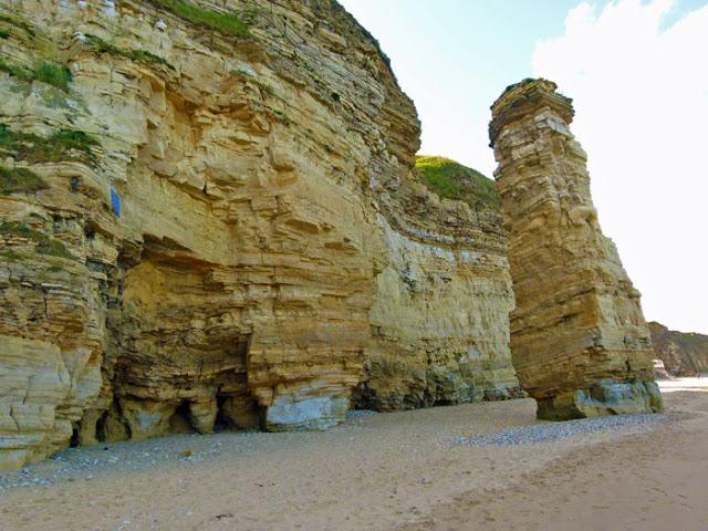 Lot's Wife, Marsden Bay, limestone stack, Tyne and Wear