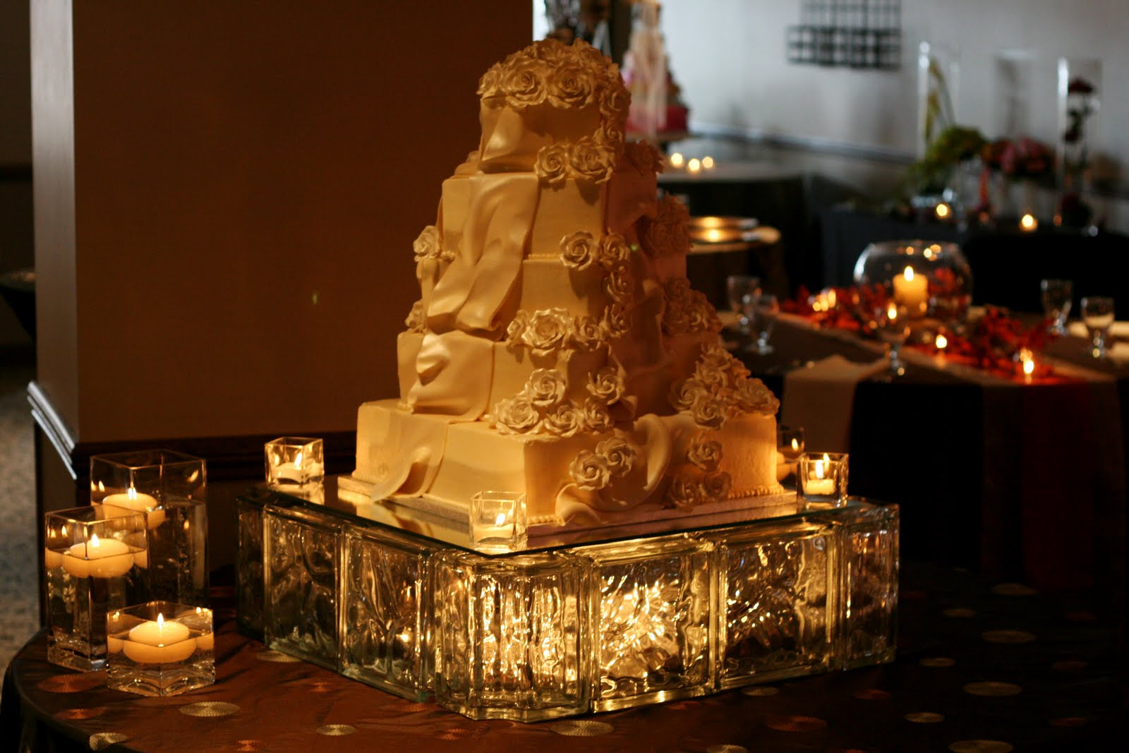 Rental Highlight: Lighted Glass Block Cake Stands