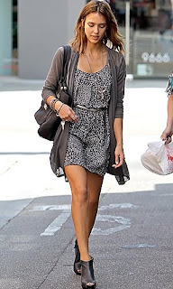 Jessica Alba in ankle boots
