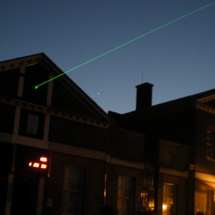 the Meridian Laser at the Royal Observatory