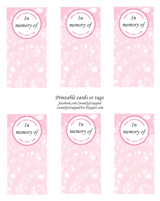 Breast Cancer Cards Printable http://sweetlyscrappedart.blogspot.com/2011/10/breast-cancer-awareness-free-printables.html