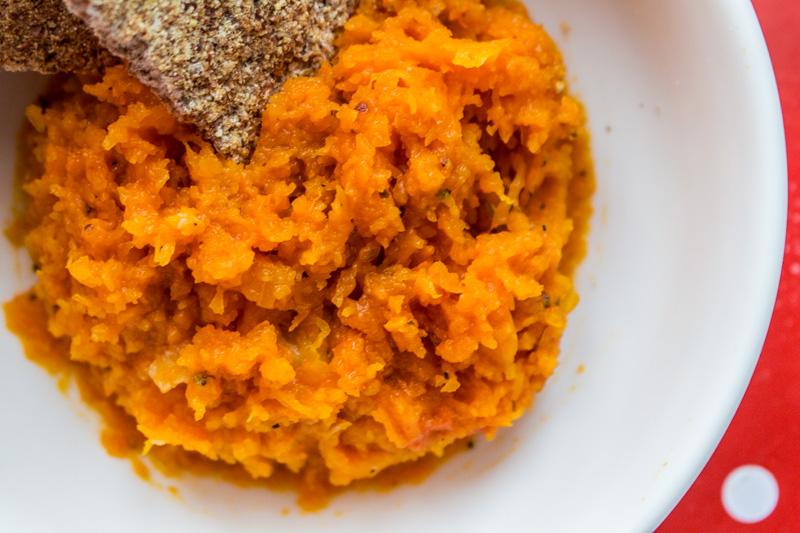 Chunky butternut pumpkin mash spread