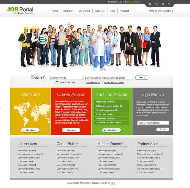 Free Job Portal Website Templates