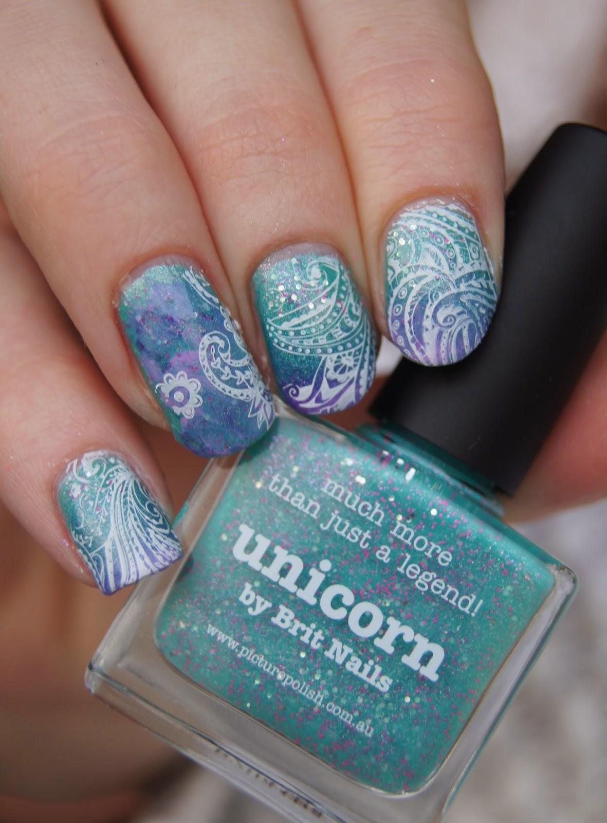 nail art stamping blanc