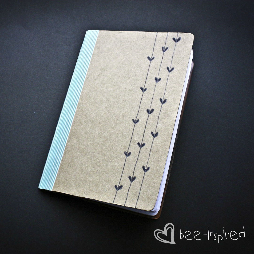 Diy Notebook Cover Ideas : Bee inspired diy notebook sketchbook whatever i want to