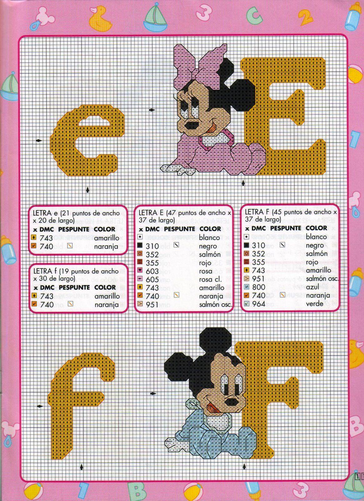 Monogramas com a turma do Mickey e Donald