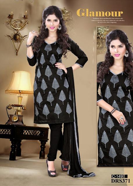 Buy Chanderi Silk Churidar Dress Material