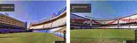 El estadio de Boca (La Bombonera) y el de River (El Monumental) en Google Street View