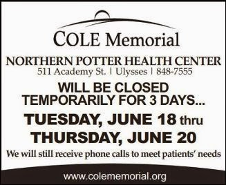 Northern Potter Health Center Temporary Closing